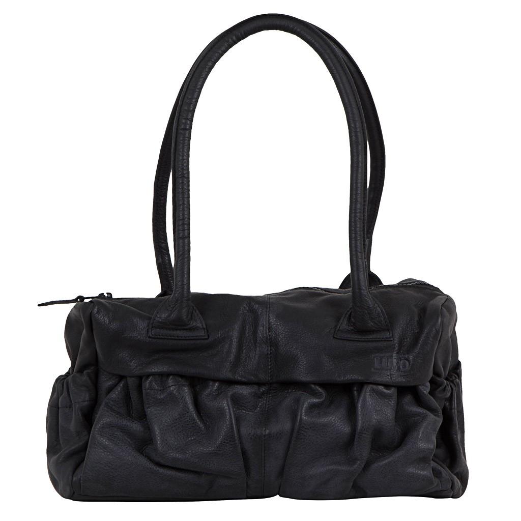 lupo damen handtasche leder schwarz luxuryloft. Black Bedroom Furniture Sets. Home Design Ideas