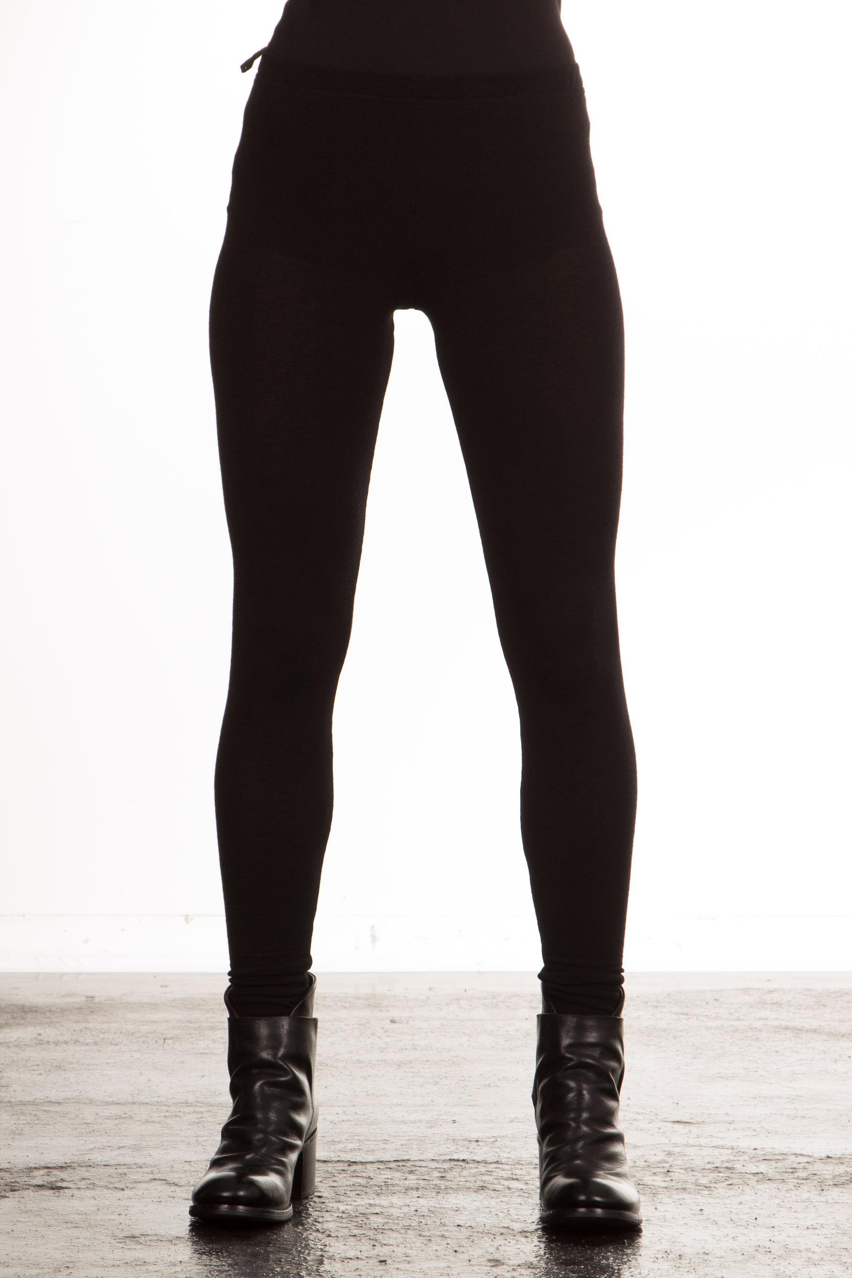Hosen - Masnada Damen Jersey Leggings schwarz  - Onlineshop Luxury Loft