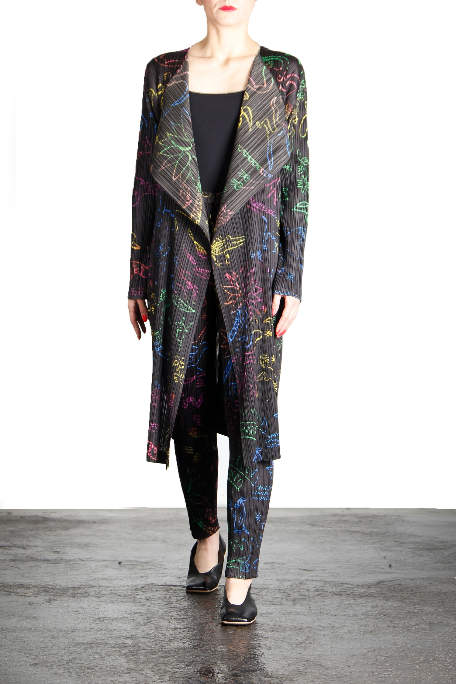 Hosen - Pleats Please Issey Miyake Plissé Hose Print multicolor  - Onlineshop Luxury Loft