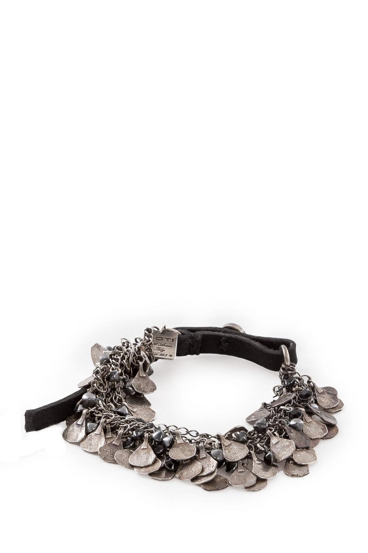 Armbaender für Frauen - GOTI Silber Armband BR1106 silber schwarz  - Onlineshop Luxury Loft