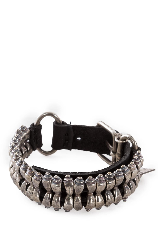 Armbaender für Frauen - GOTI Armband BR203 schwarz silber  - Onlineshop Luxury Loft