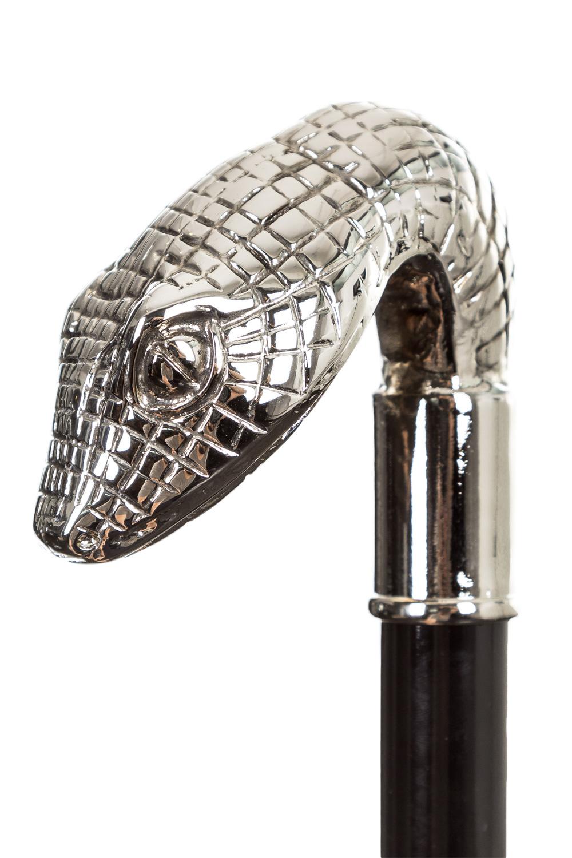 Regenschirme - Pasotti Regenschirm mit Schlangenknauf schwarz  - Onlineshop Luxury Loft