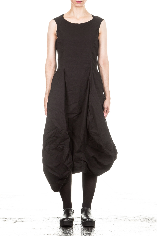 Kleider für Frauen - Rundholz Dip Kleid Avantgarde schwarz  - Onlineshop Luxury Loft