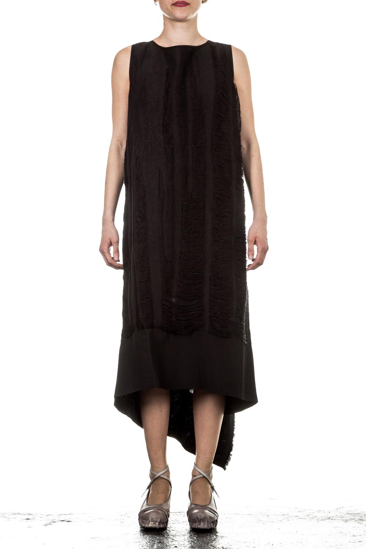 Masnada Damen Kleid lang schwarz