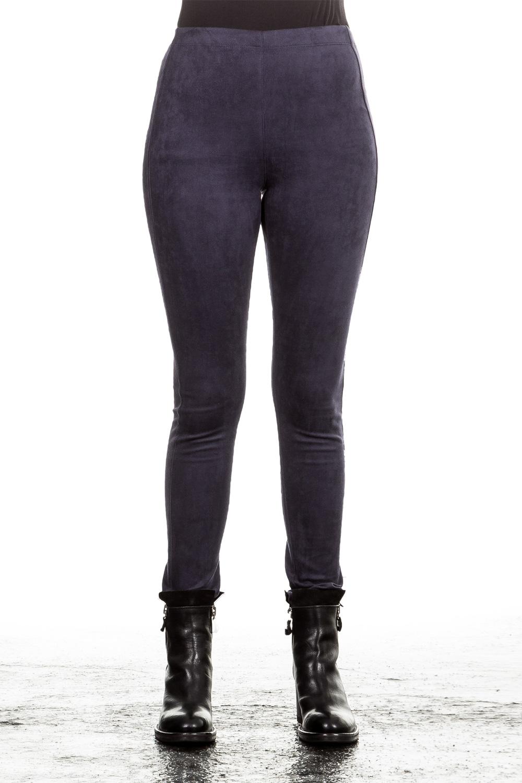 Hosen für Frauen - Janice Jo Damen Leggings Velourlederoptik blau  - Onlineshop Luxury Loft