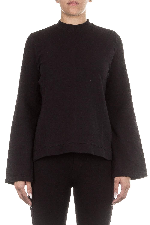 Thom Krom Damen Baumwoll Sweatshirt schwarz