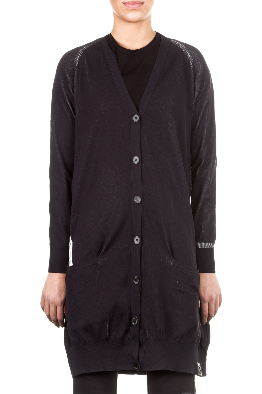 Jacken - Y 3 Damen Cardigan oversized schwarz  - Onlineshop Luxury Loft