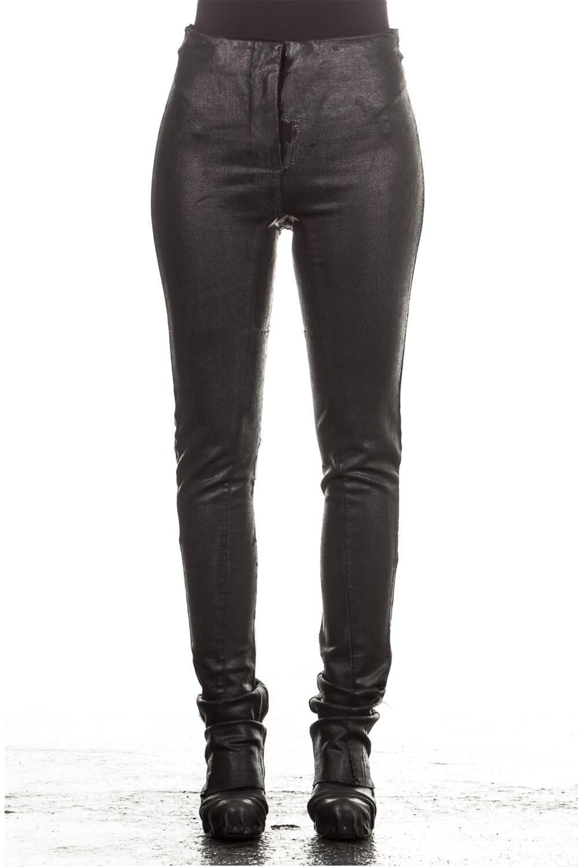 Hosen für Frauen - Masnada Damen Hose beschichtet Avantgarde schwarz  - Onlineshop Luxury Loft