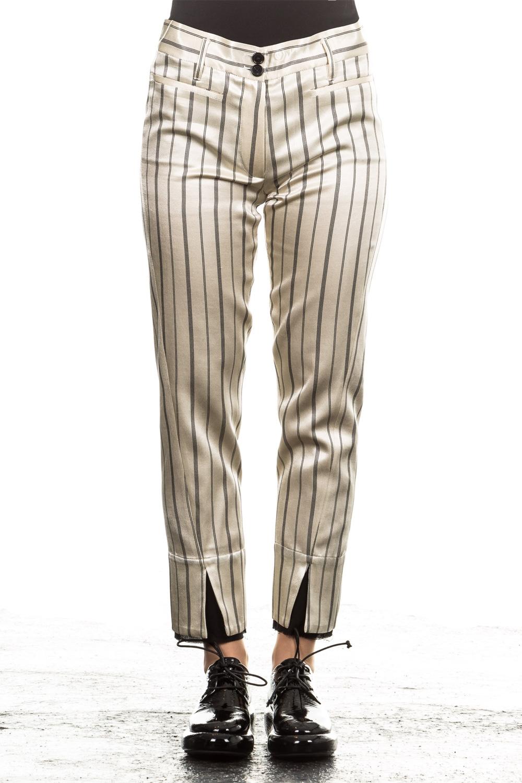 Hosen - Ann Demeulemeester Damen Hose 7 8 Avantgarde beige  - Onlineshop Luxury Loft