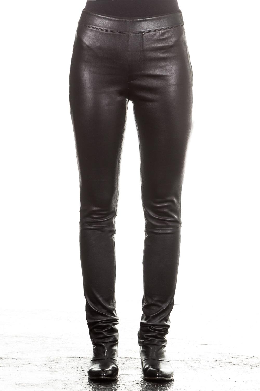 Hosen - Helmut Lang Damen Leder Leggings schwarz  - Onlineshop Luxury Loft