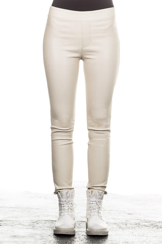 Hosen - Helmut Lang Damen Leder Leggings creme  - Onlineshop Luxury Loft
