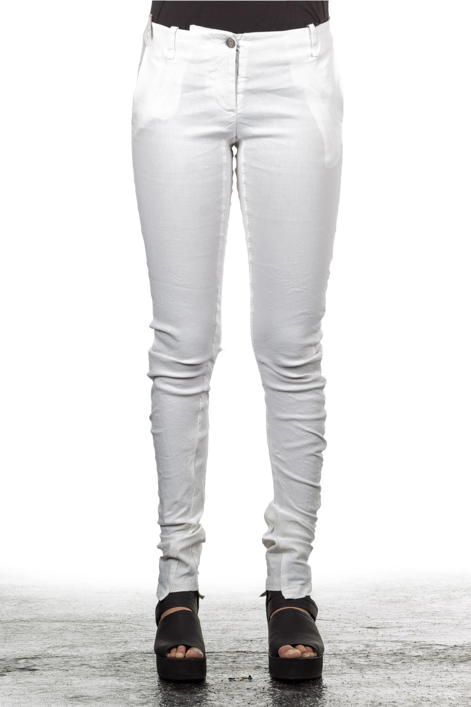 Hosen - Masnada Damen Leinenhose weiß  - Onlineshop Luxury Loft