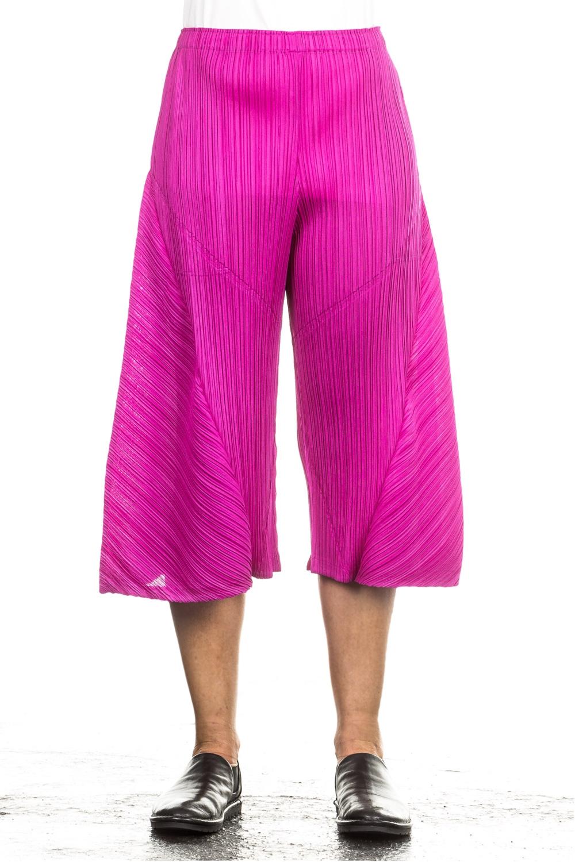 Hosen - Pleats Please Issey Miyake Plissee Hose magenta  - Onlineshop Luxury Loft