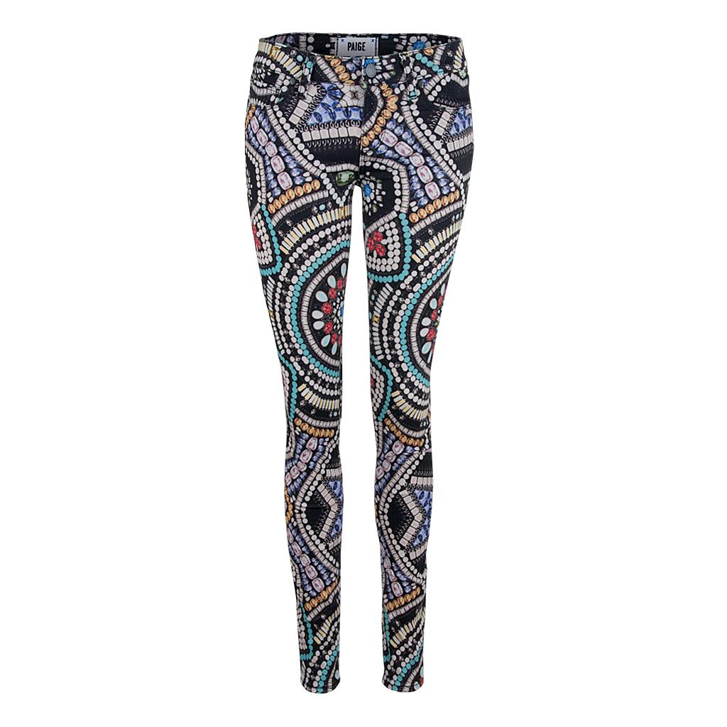 Hosen für Frauen - Paige Jeans MAJESTIC CROWN Ultra Skinny print  - Onlineshop Luxury Loft