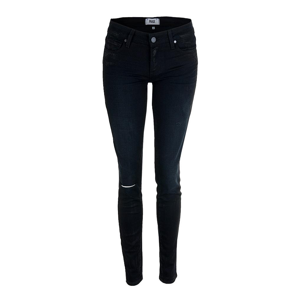 Hosen - Paige Jeans VERDUGO Ultra Skinny schwarz Glanz  - Onlineshop Luxury Loft