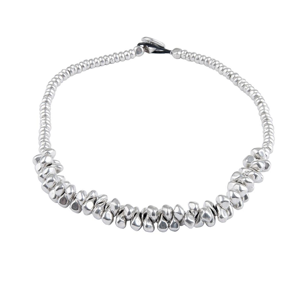 MACA Kitzbühel Halskette K054 silber und schwarz