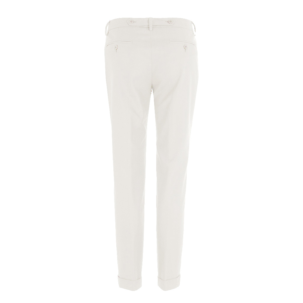 Hosen - Pamela Henson Hose DROP weiss  - Onlineshop Luxury Loft