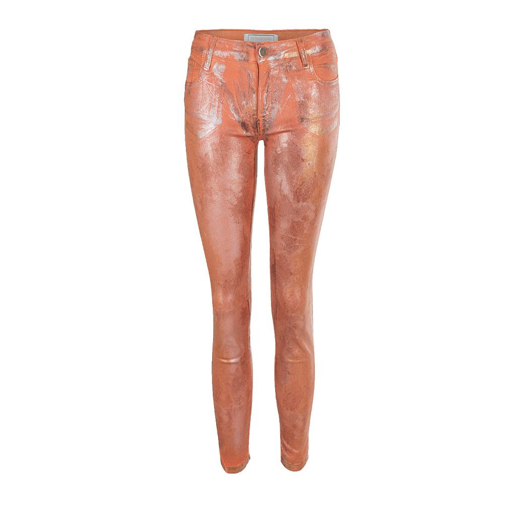 Hosen - 75 Faubourg Skinny 7 8 Jeans Pumpkin orange  - Onlineshop Luxury Loft