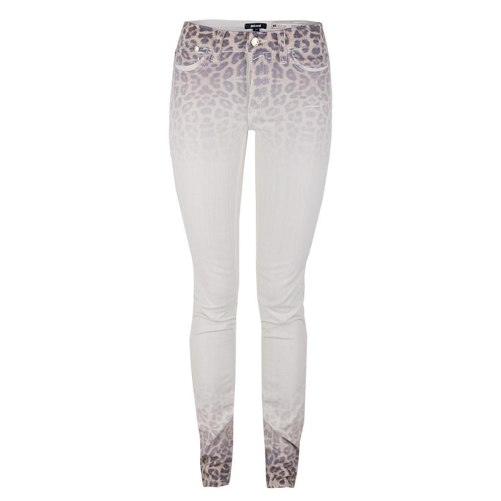 Hosen - Just Cavalli Jeans Hose beige leoprint  - Onlineshop Luxury Loft