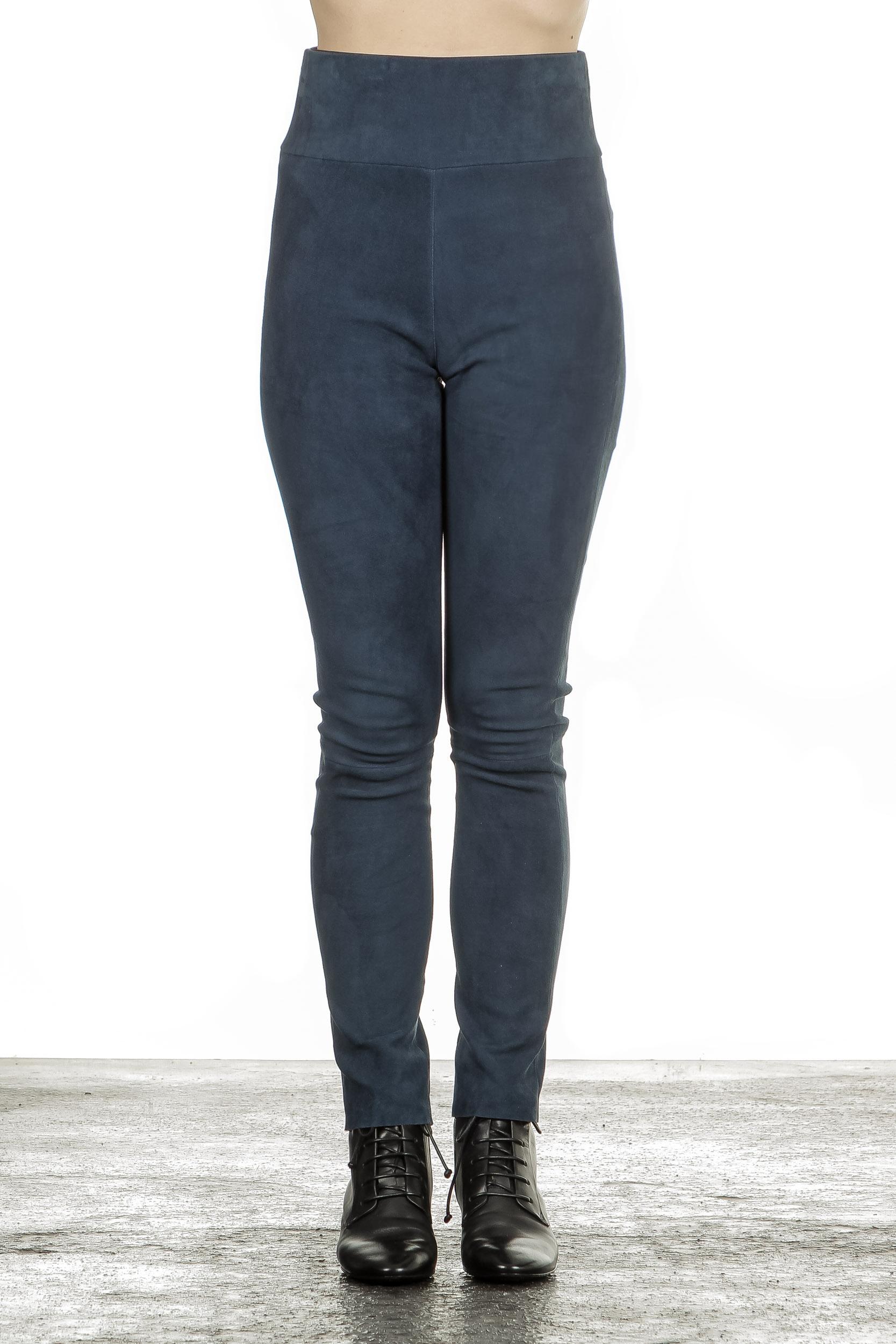 Hosen - DROMe Damen Leder Leggings indigo  - Onlineshop Luxury Loft