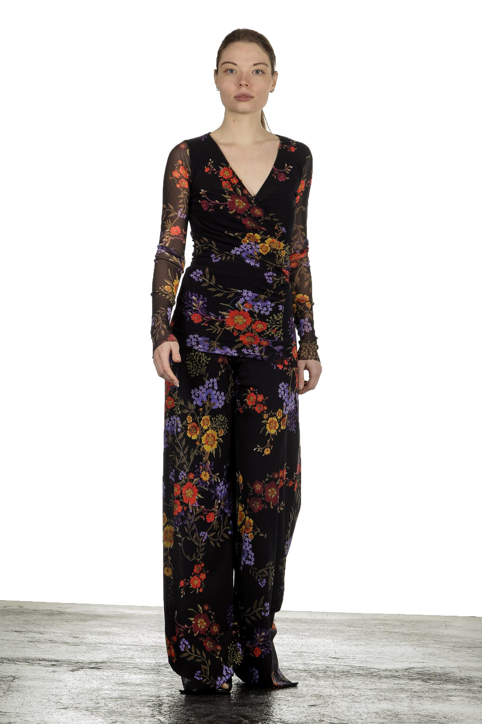 Hosen - FUZZI Damen Hosenrock mit Blumen Print mehrfarbig  - Onlineshop Luxury Loft