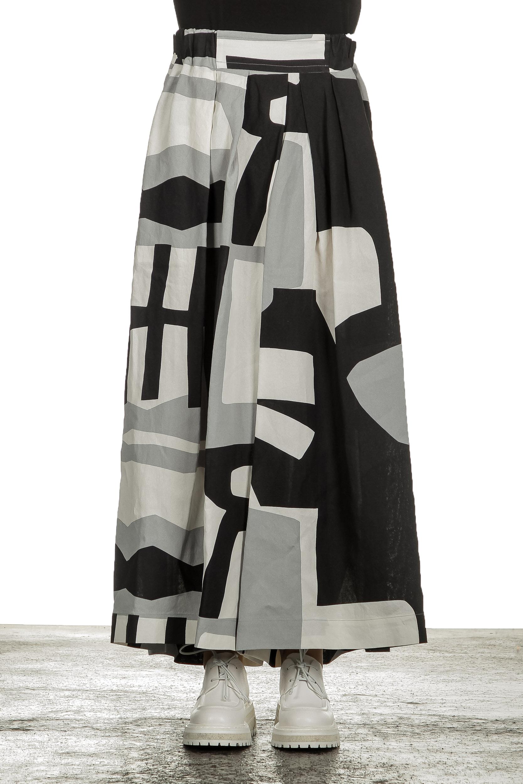 Hosen - Issey Miyake Avantgarde Damen Hose mit Print mehrfarbig  - Onlineshop Luxury Loft