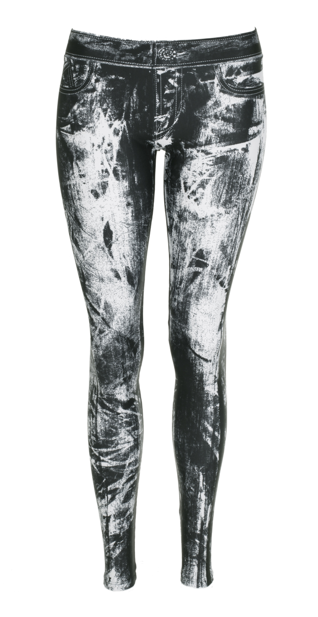 Hosen - Rock Republic Damen Leggings black white  - Onlineshop Luxury Loft