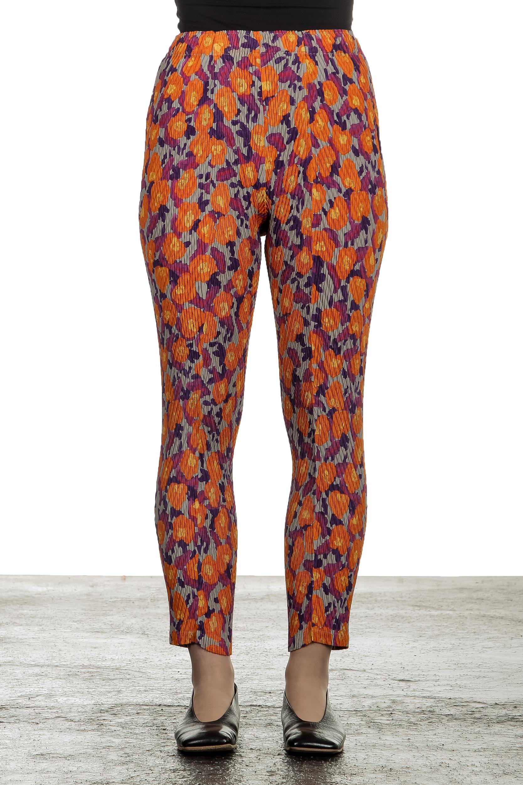 Hosen - Issey Miyake Damen Plissierte Hose mit Print mehrfarbig  - Onlineshop Luxury Loft