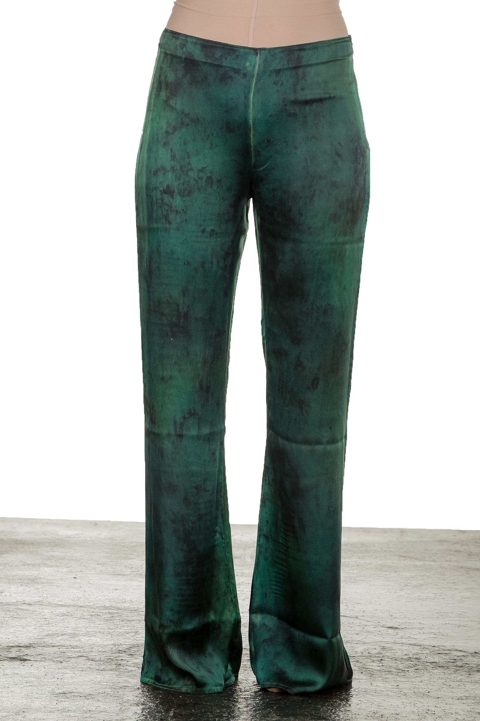 Hosen - AVANT TOI Damen Hose aus Seidenmischung grün  - Onlineshop Luxury Loft