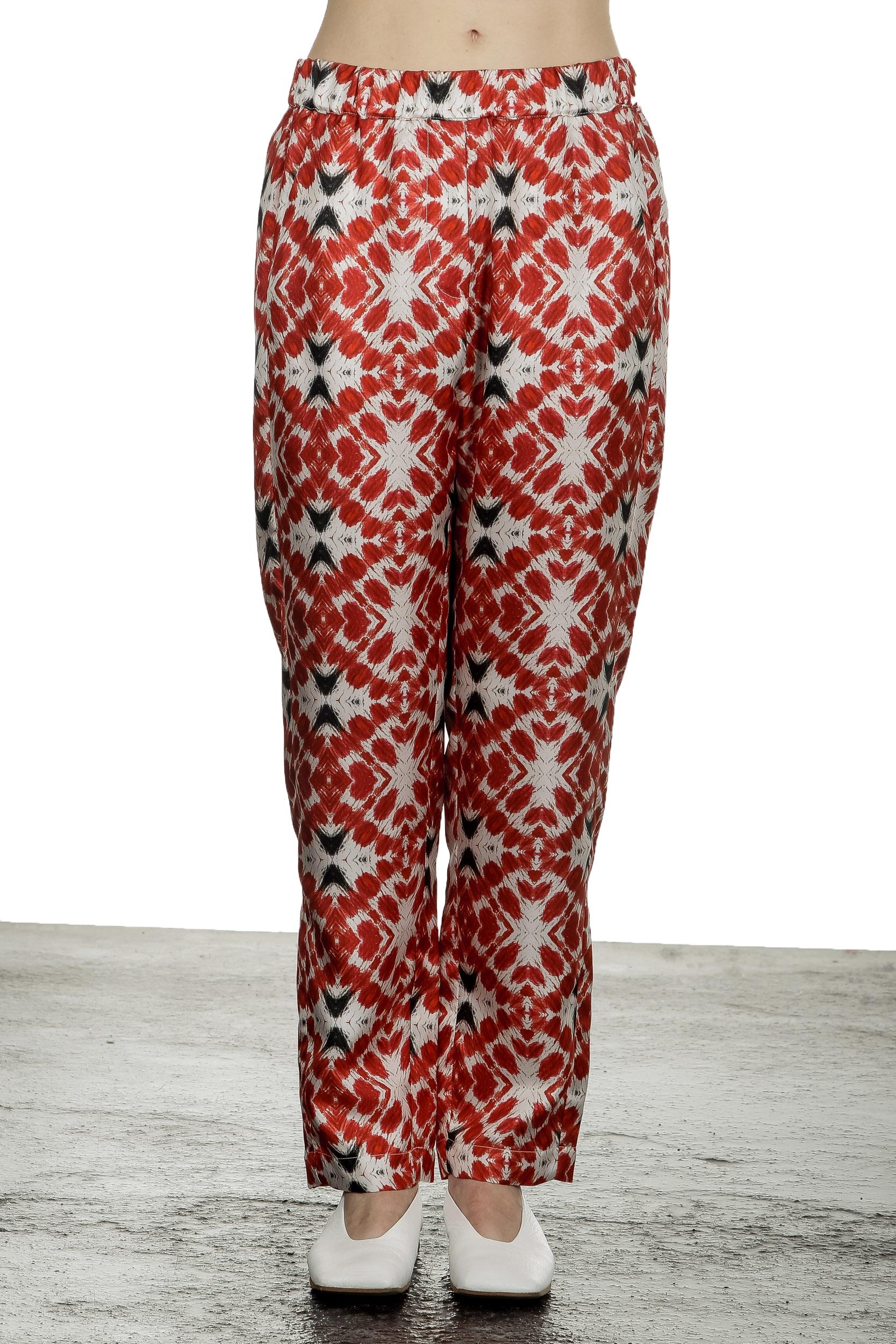 Hosen - 813 Ottotredici Damen Hosenrock mit Print aus Seide mehrfarbig  - Onlineshop Luxury Loft