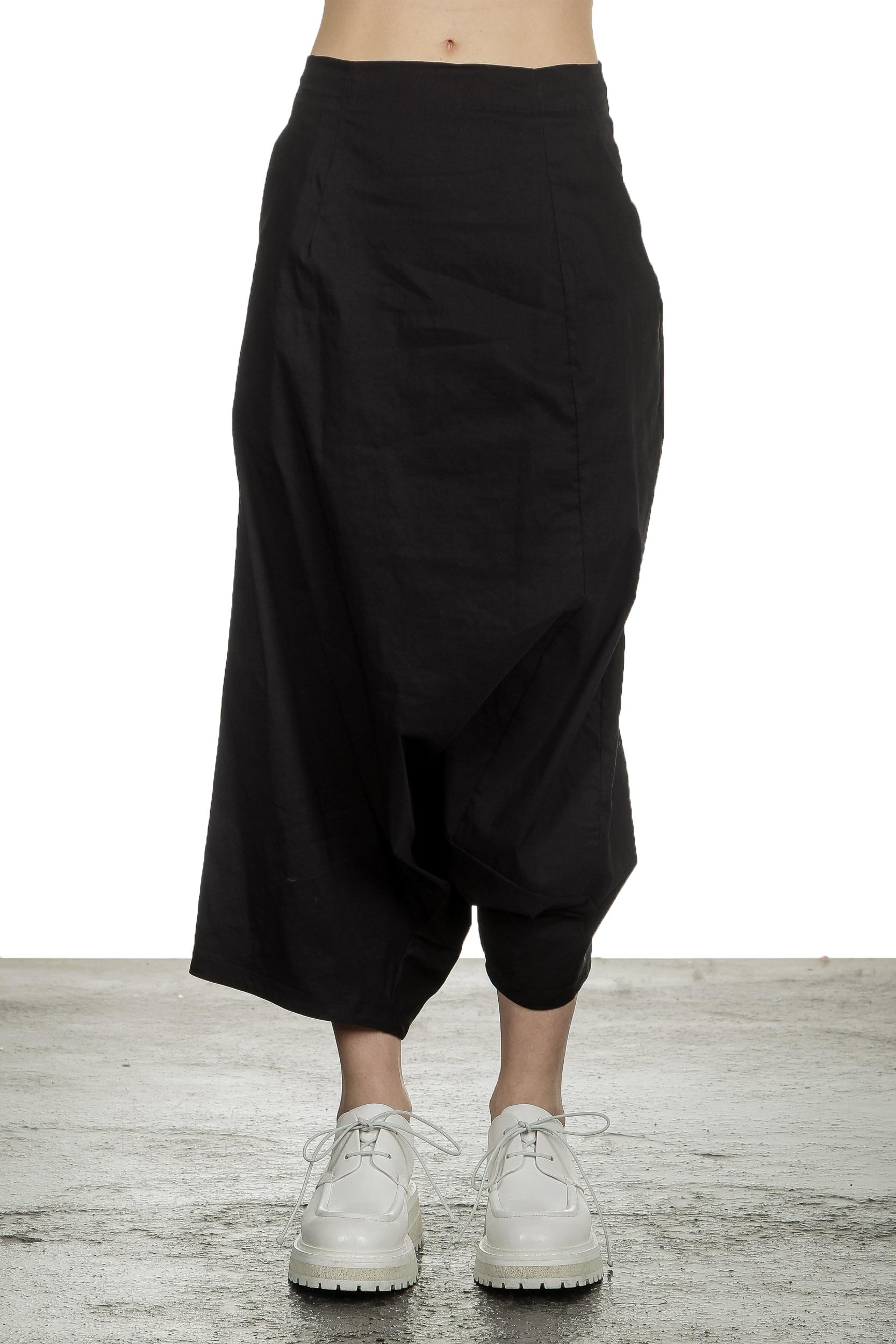Hosen - Rundholz Damen Sarouel Hose mit hohem Bund schwarz  - Onlineshop Luxury Loft