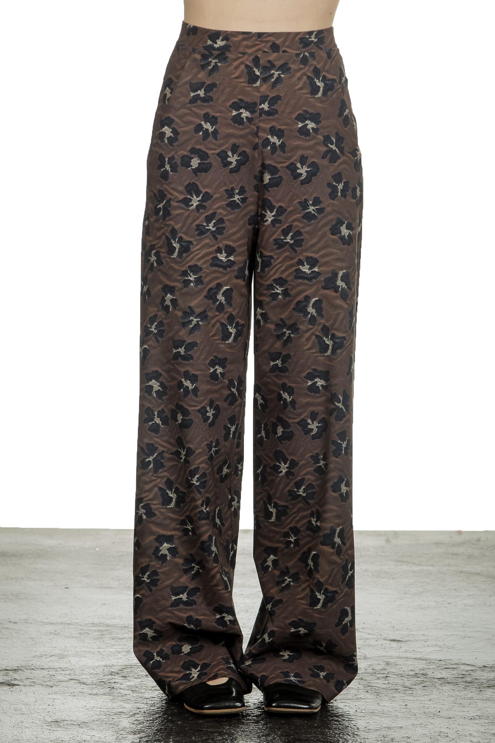 Hosen - Schella Kann 2 Damen Weite Hose mit Print mehrfarbig  - Onlineshop Luxury Loft