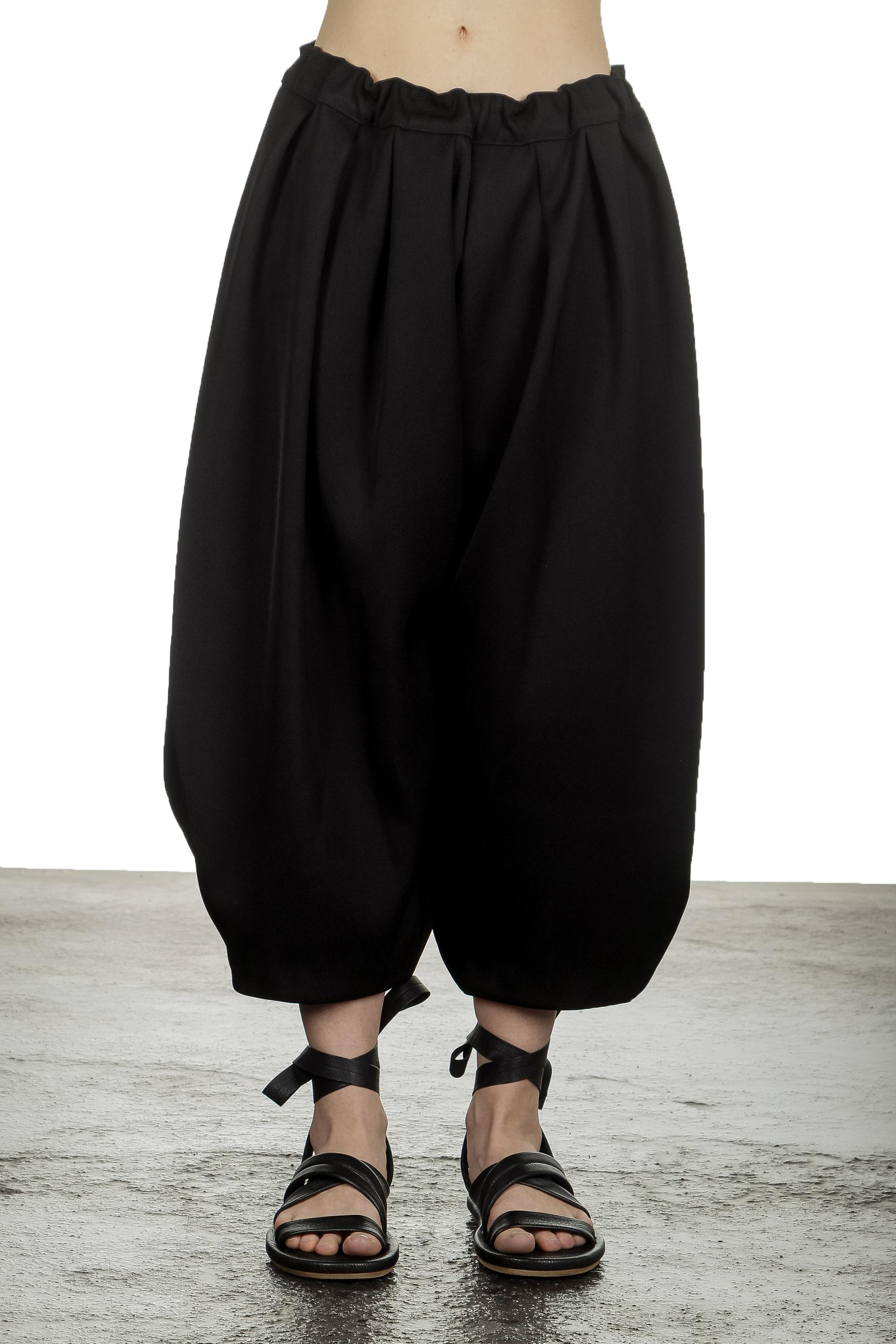 Hosen - Comme Des Garçons Damen Hose mit Stretchbund schwarz  - Onlineshop Luxury Loft