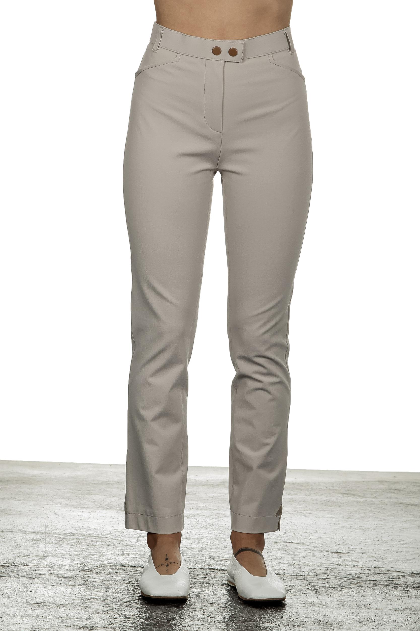 Hosen - Seductive Damen Hose 'FRANZISKA' mit hohem Bund beige  - Onlineshop Luxury Loft