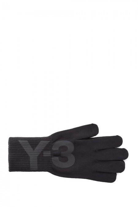 Y-3 Damen Handschuhe LOGO GLOVES schwarz