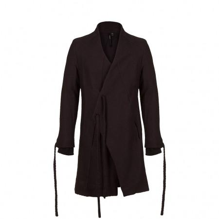 UMASAN Herren Baumwoll Mantel Avantgarde Style schwarz
