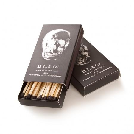 D.L. & CO. Streichhölzer SKULL MATCHES schwarz