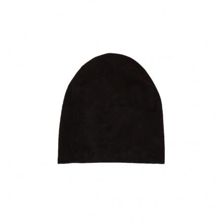 Lonnet Veloursleder Mütze Beanie schwarz