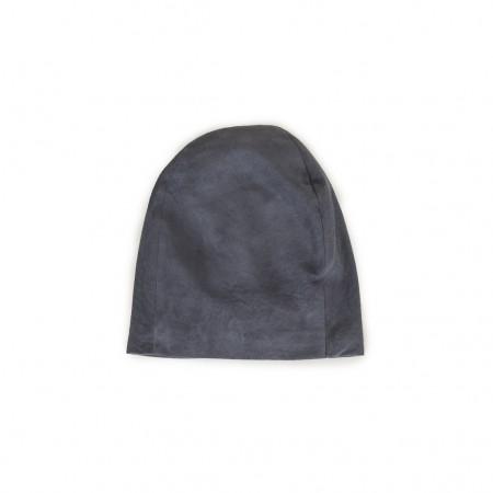 Lonnet Veloursleder Mütze Beanie grau