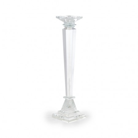 Cor Mulder Kerzenleuchter 51 cm aus Kristallglas transparent