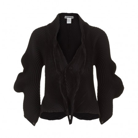 ISSEY MIYAKE Plissee Jacke schwarz