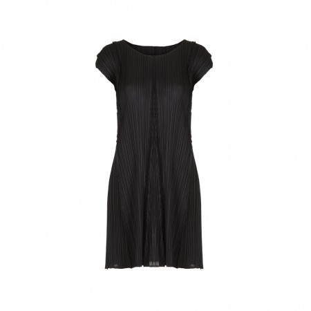ISSEY MIYAKE PLEATS PLEASE Plissee Kleid schwarz