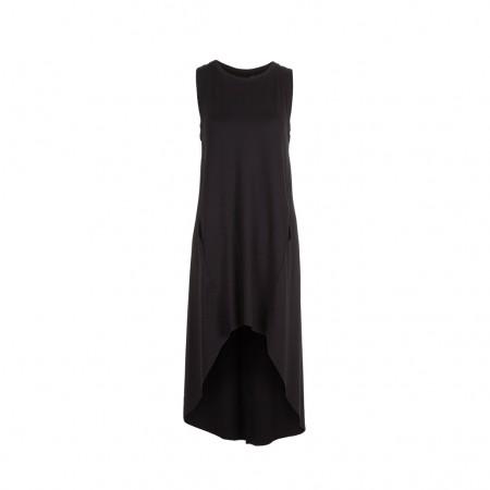UMASAN Damen Jersey Kleid Avantgarde schwarz