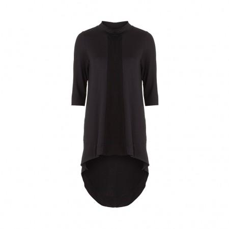 UMASAN Damen Longshirt Avantgarde schwarz