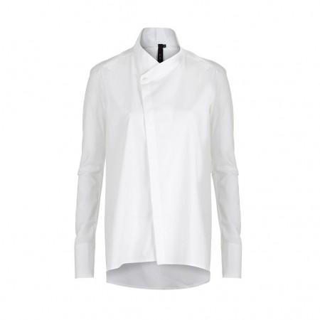 UMASAN Damen Bluse Avantgarde weiß