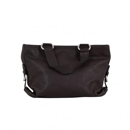 LUPO Damen Handtasche Leder dunkelbraun