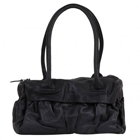 LUPO Damen Handtasche Leder schwarz