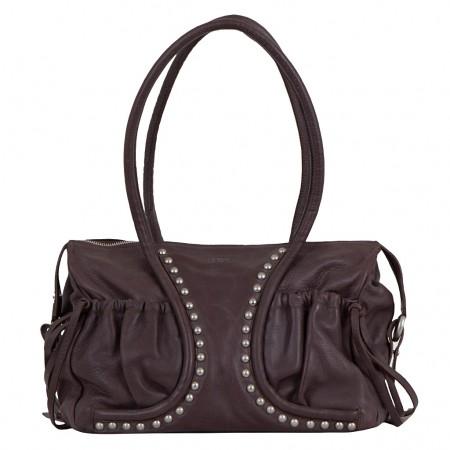 LUPO Damen Handtasche Leder braun