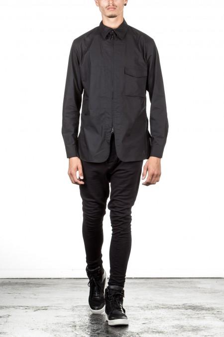 Y-3 Herren Hemd MIX ZIP SHIRT schwarz