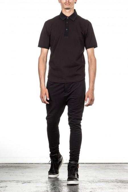 Y-3 Herren Polo Shirt schwarz